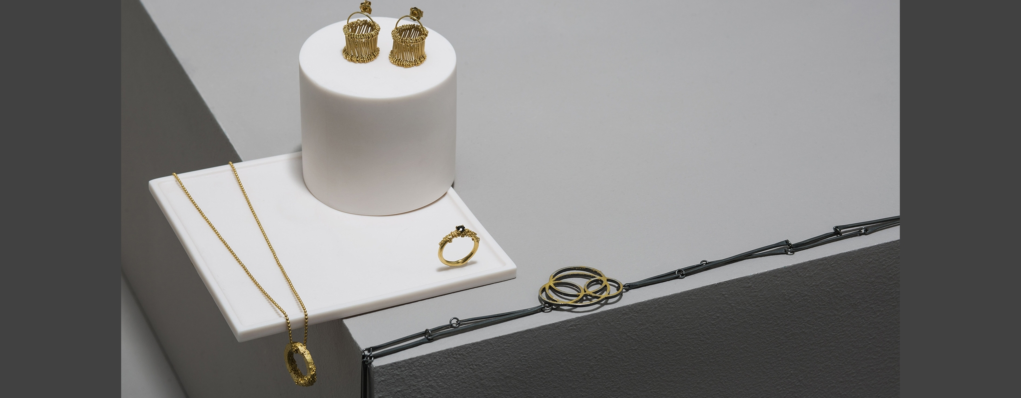 jewellery laid out in display